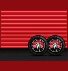winter tires vector image