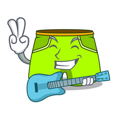 With guitar cartoon shorts style for the swimming vector