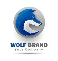 Wolf bolt Color Logo Creative colorful abstract vector