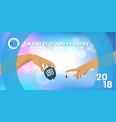 World diabetes day 2018 vector