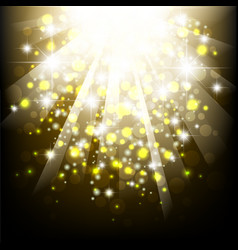 yellow summer sun light burst typographical vector image