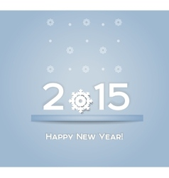 Christmas background snowflake 2015 gray vector image