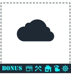 Cloud icon flat vector image