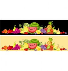 fruit card set vector image vector image