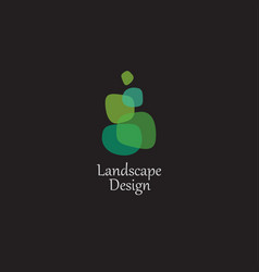 landscape and plant logo vector image