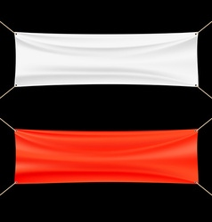 Red and white banner vector image