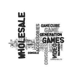wholesale video game market text word cloud vector image vector image
