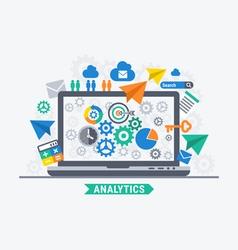 Analytics progress vector image vector image