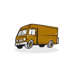 Delivery Van Side Isolated Cartoon vector image vector image