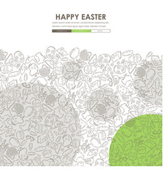 easter doodle website template design vector image vector image