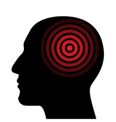 Silhouette of a human head wit the target vector image