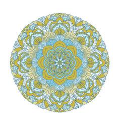 flower mandalas vintage decorative elements vector image
