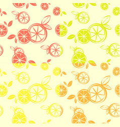 four wallpaper citrus seamless pattern print vector image