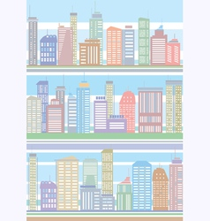 seamless buildings pattern vector image vector image