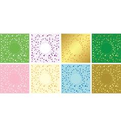 set of floral decorative cards - frames vector image