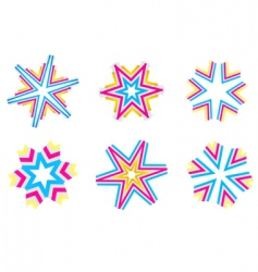 star shapes vector image vector image