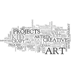 art for kid text word cloud concept vector image