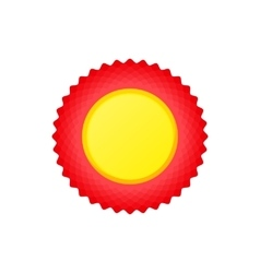 Award rosette iconcartoon style vector image vector image