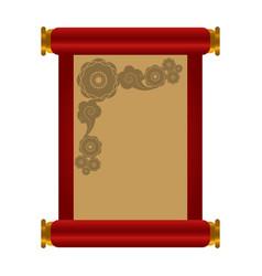 Empty parchment paper vector