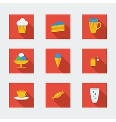 Flat icons for cafe vector image vector image