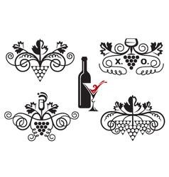 grape ornaments set vector image vector image