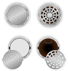 manhole 08 vector image vector image