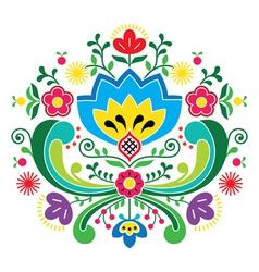 Norwegian folk art Bunad pattern - Rosemaling vector image
