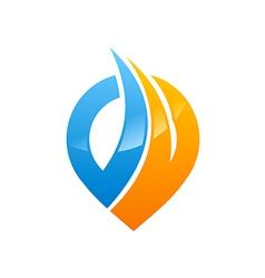 Position abstract gps logo vector