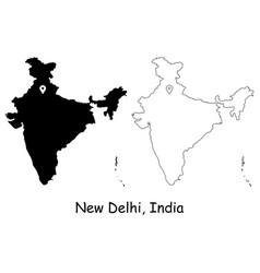 1084 new delhi india vector image