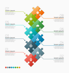 8 options infographic template vector image