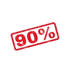 90 Percent Text Rubber Stamp vector