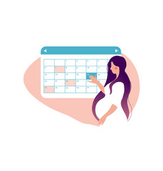 a woman is planning a medical appointment vector image