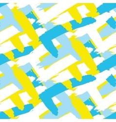 Acrylic paint strokes seamless pattern vector image
