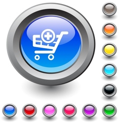 Add to cart round button vector image