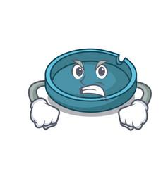 angry ashtray mascot cartoon style vector image