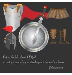 Armor of god christianity warrior faith brave vector