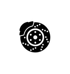 Auto disk brake icon vector