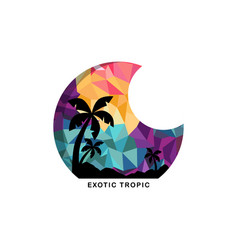 Beach time tropical island summer vacation vector