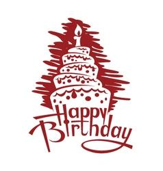 birthday cake image vector image vector image
