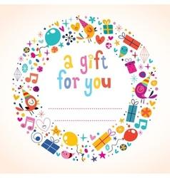 Birthday gift tag vector