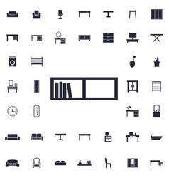 Book shelf icon vector
