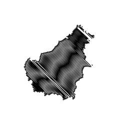 Borneo map vector