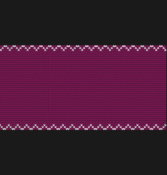 Burgundy knitted fabric background with zig zag vector