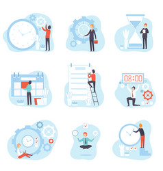 businessmen planning and controlling working time vector image