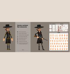 Cartoon bandit in mask character big set vector