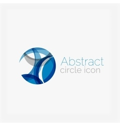 Circle abstract shape logo vector image
