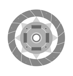 Clutch plate auto spare part design image vector