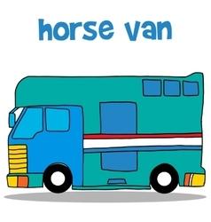 Collection stock of horse van vector