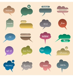 collection various bubbles for speech vector image