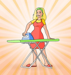 Colorful vintage housewife vector